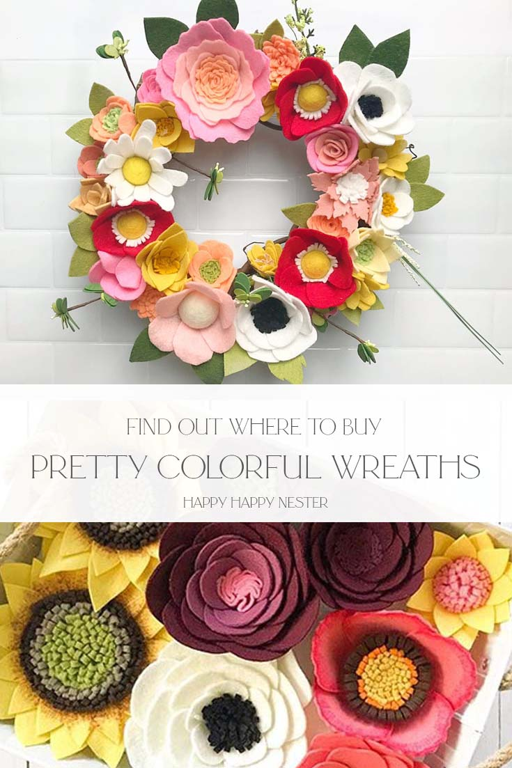 pretty colorful wreaths