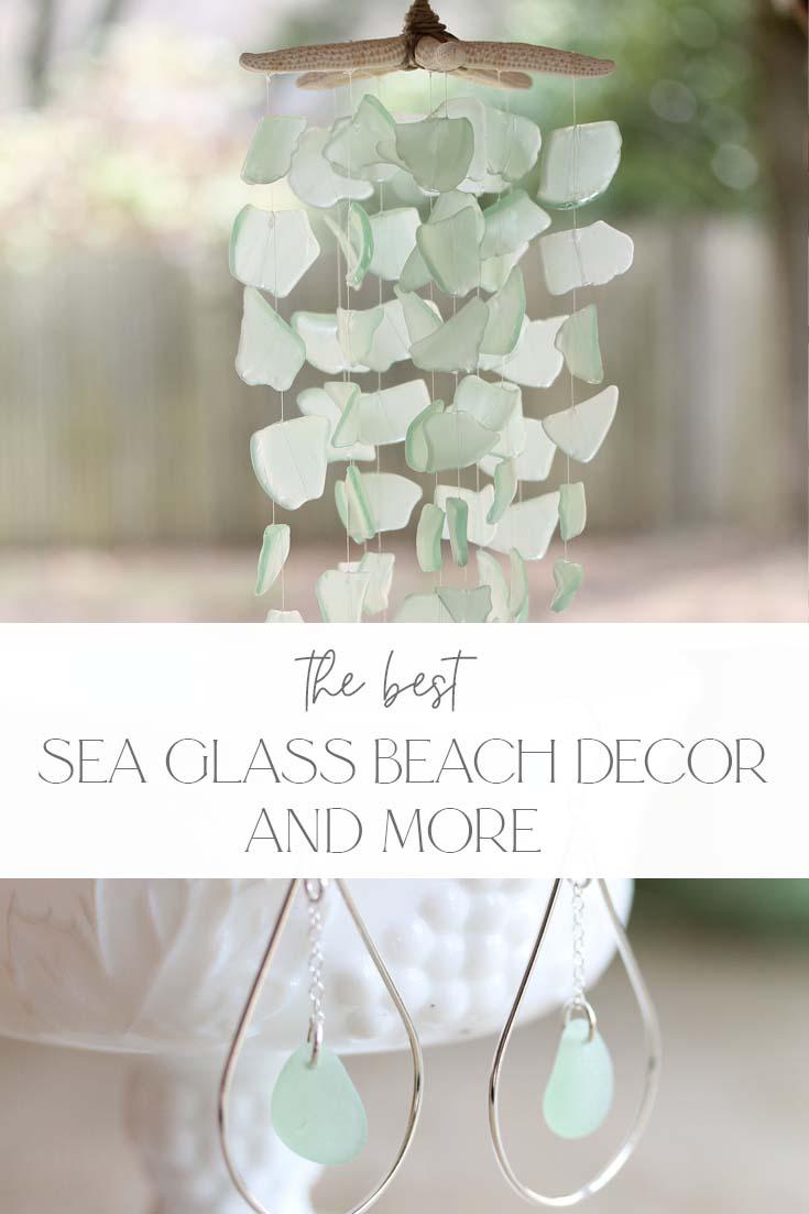 Sea glass beach decor pin