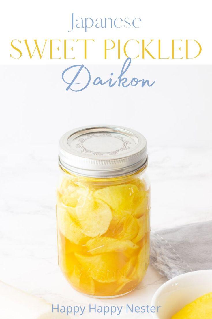 sweet pickled daikon recipe pin