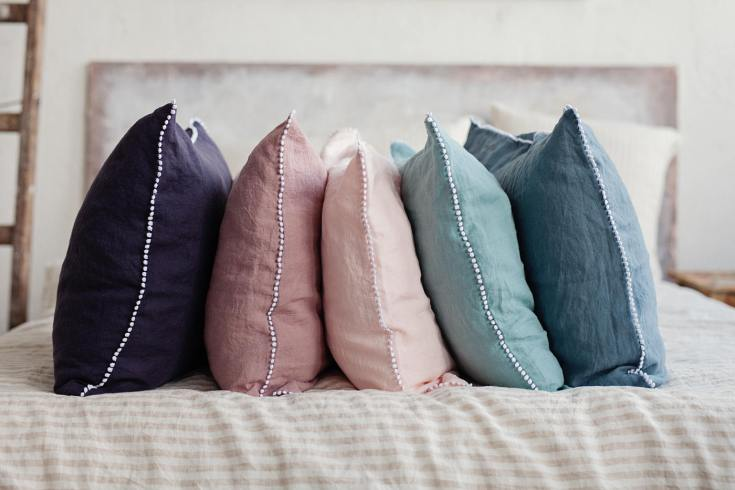 beautiful linen bedding from Lithuania