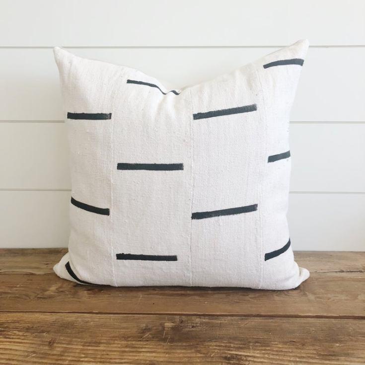 mud cloth farmhouse pillow