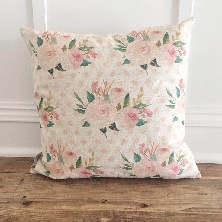 floral vintage pillows