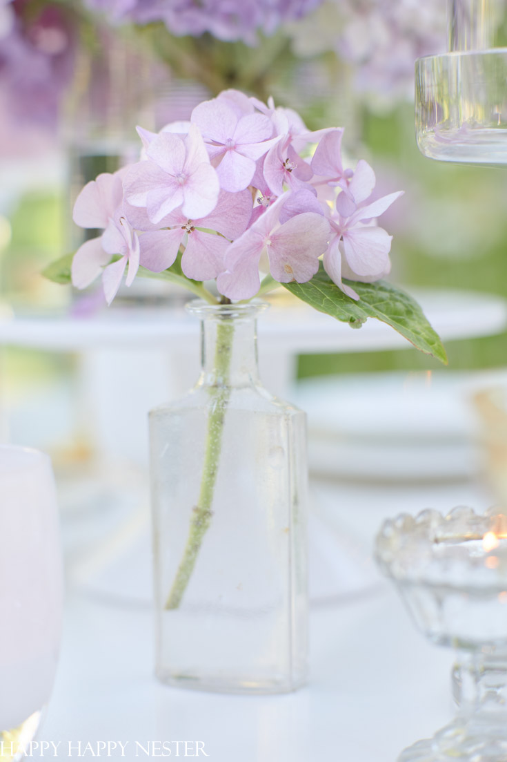 romantic Outdoor Summer table setting
