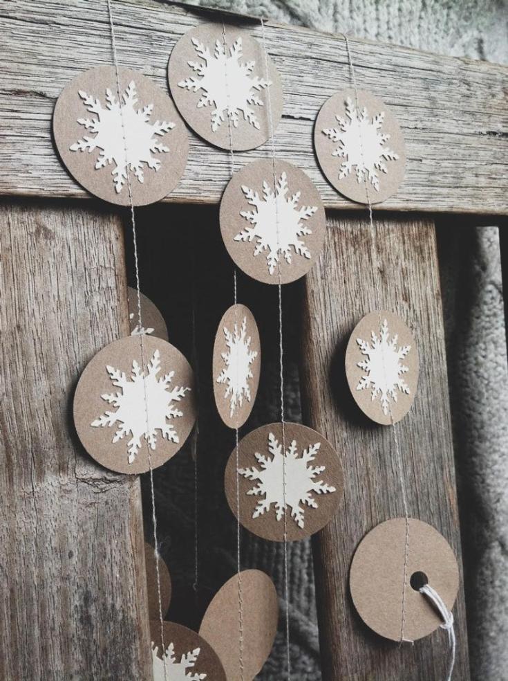snowflake paper garland.