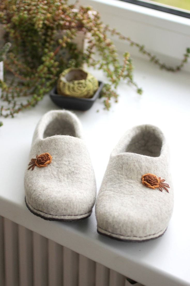 boiled wool clogs