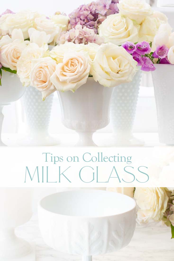 collecting milk glass vases pin