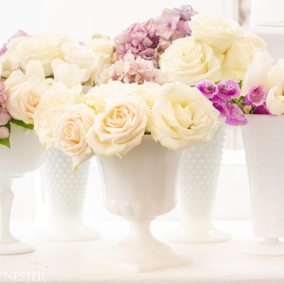 Collecting Milk Glass Vases for Flowers