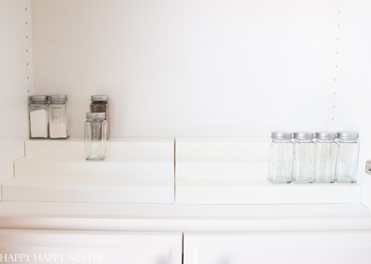 organizing a spice rack