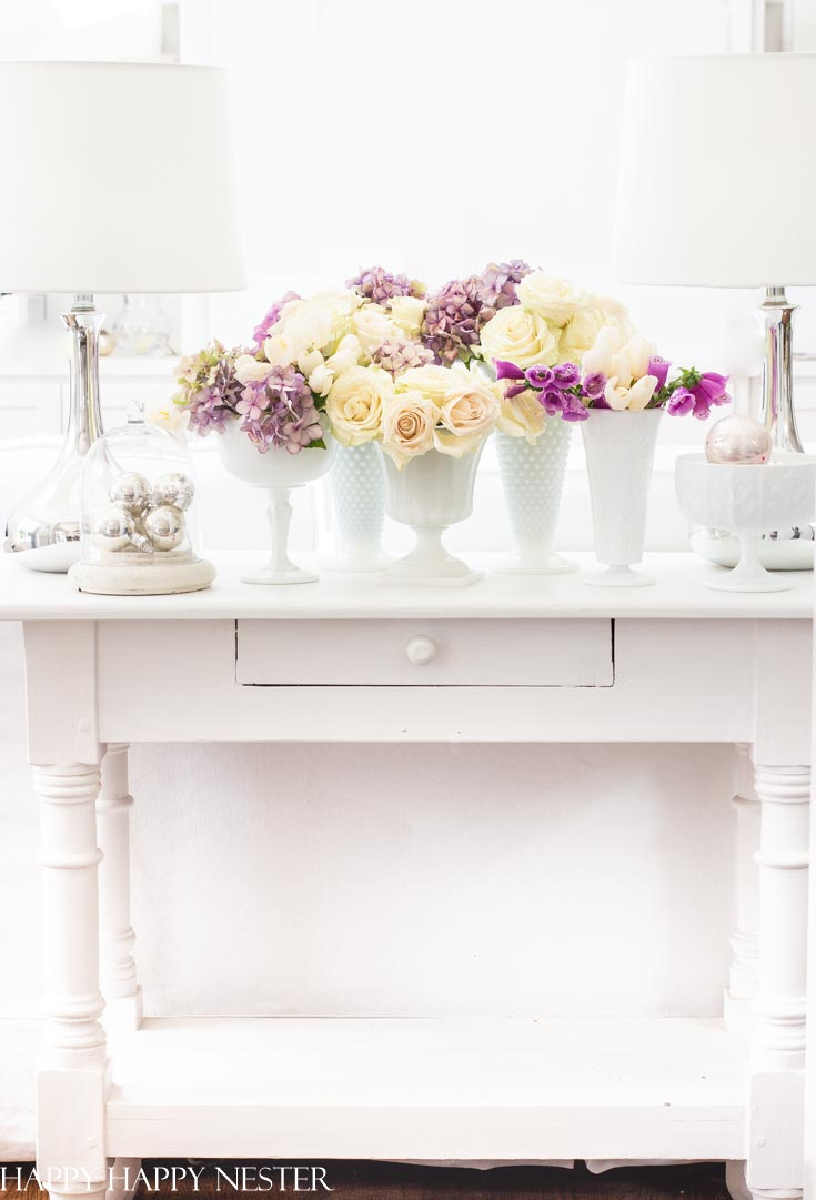 collecting milk glass vases