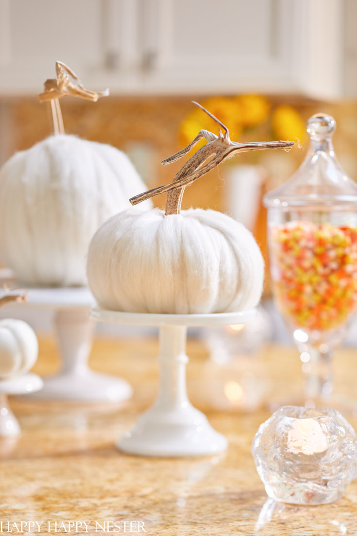 how to make a wool pumpkin