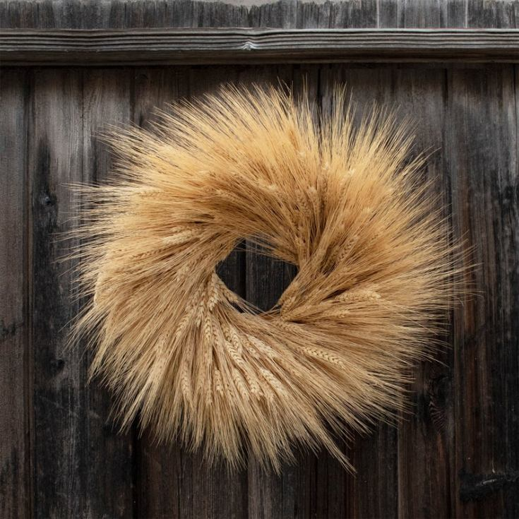 gorgeous wheat wreath
