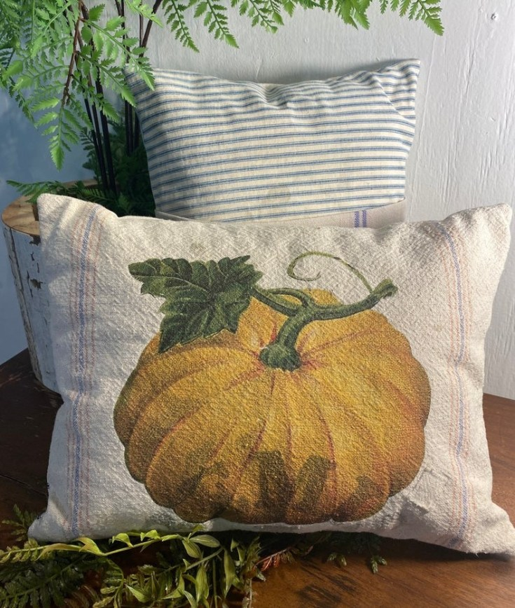 pumpkin fall pillow