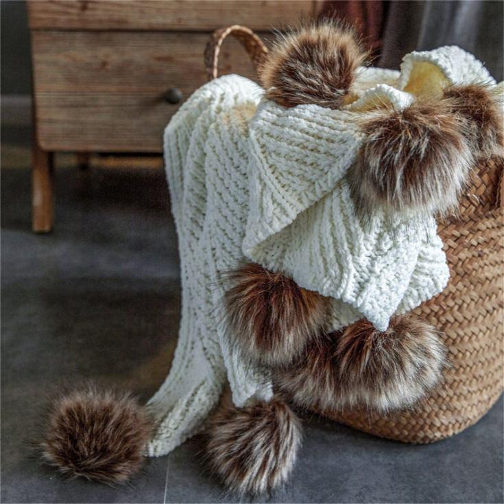 warm chenille blanket