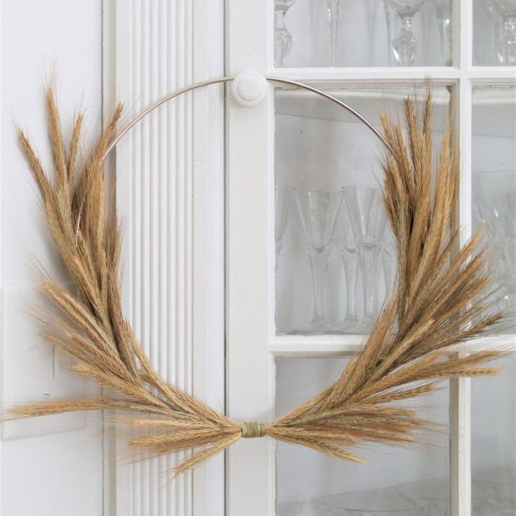 modern wheat wreath