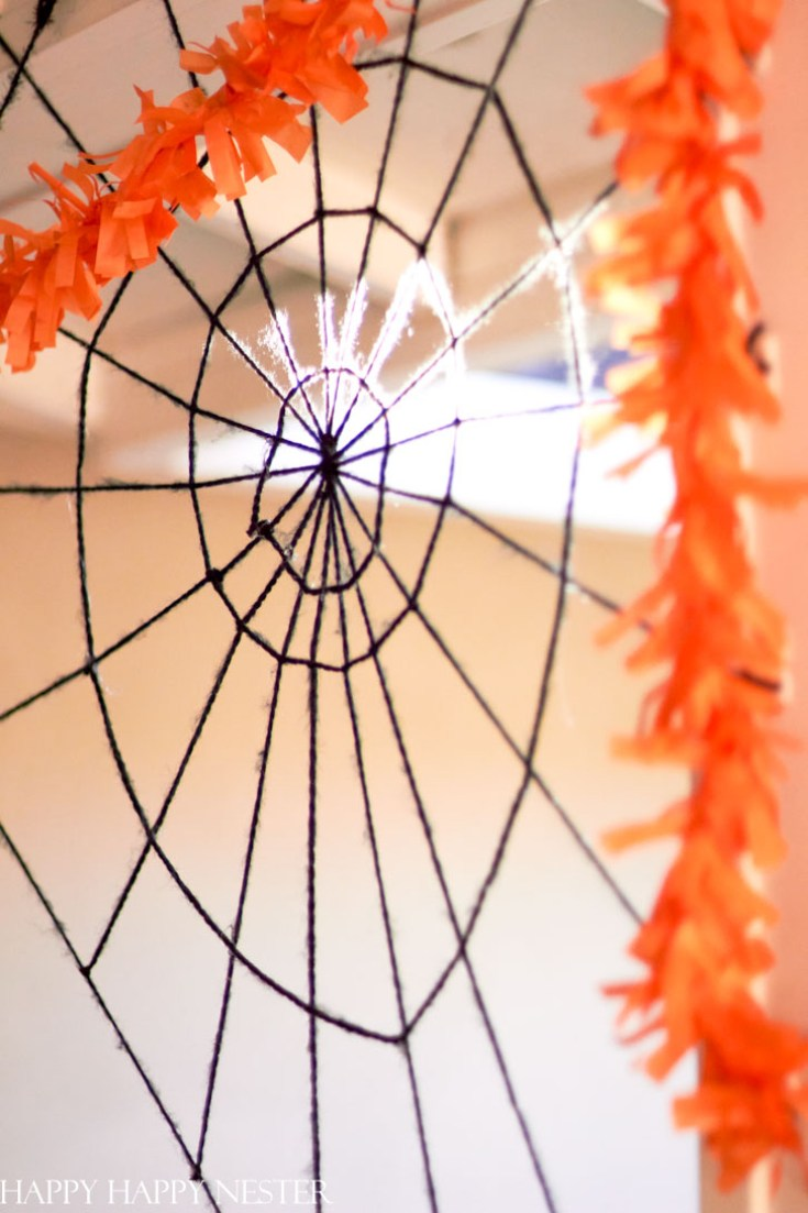 how to make a giant spider web diy