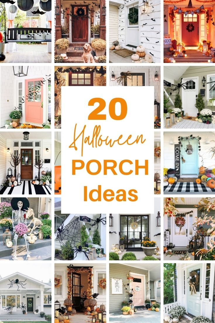 20 Halloween Front Porch Ideas Pin