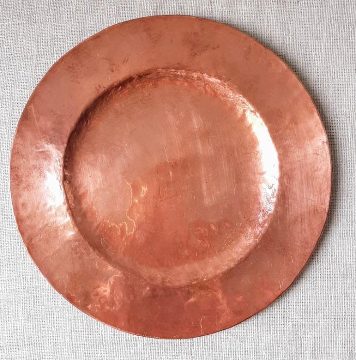 antique copper decor plate
