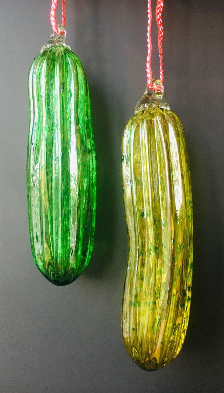 glass christmas pickle
