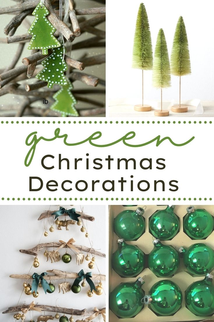 If you are looking for some unique, Beautiful Christmas Decorations, then you'll like this post. It features green decor that is handmade.