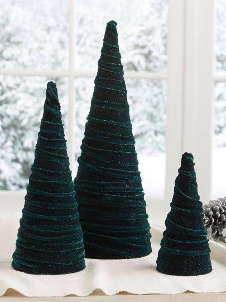 velvet christmas tree