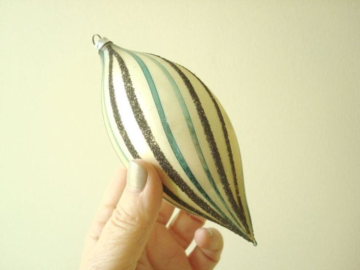 German vintage glass ornament