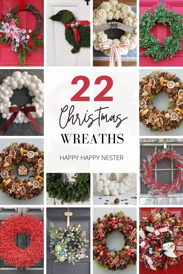 handmade wreaths for christmas pin