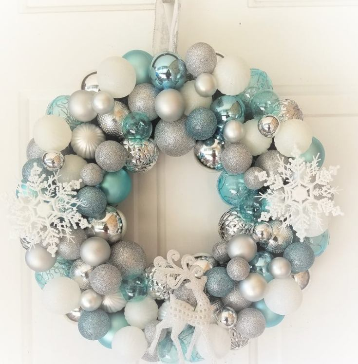 winter wonderland blue wreath