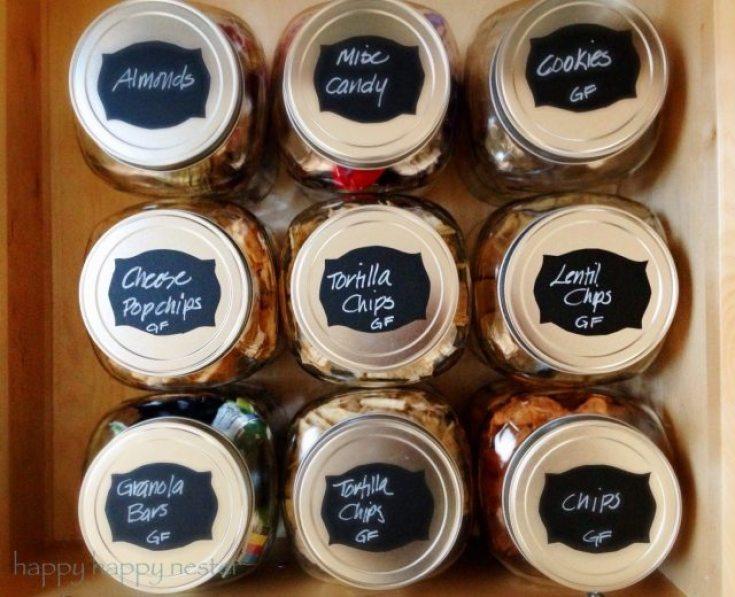 snack organizing