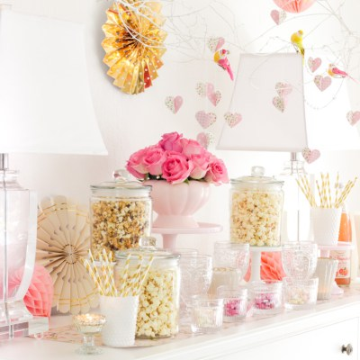 Popcorn Bar For A Party DIY