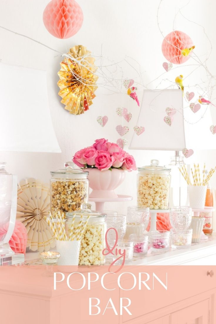 popcorn bar for a party pin