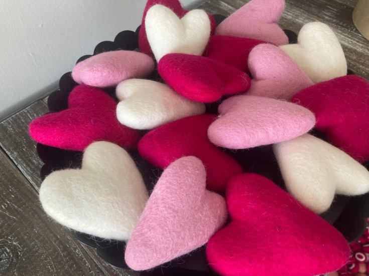 valentine's day decorations hearts
