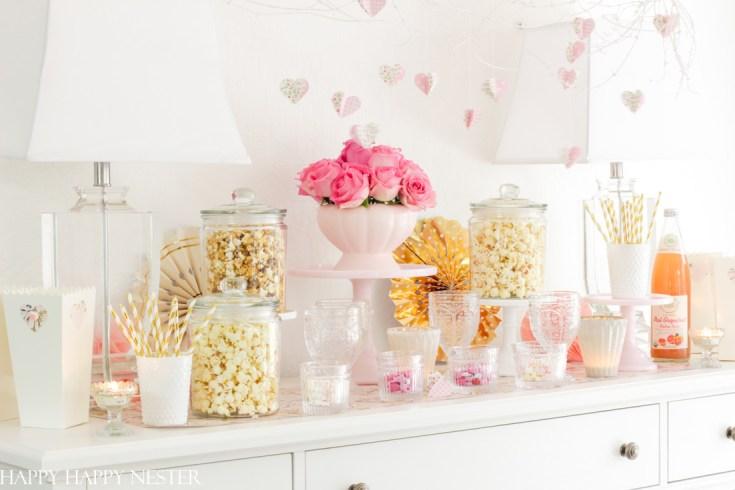popcorn bar for movie night