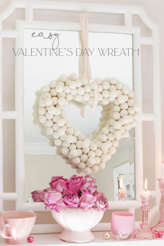 Valentine's Day wreath DIY pin
