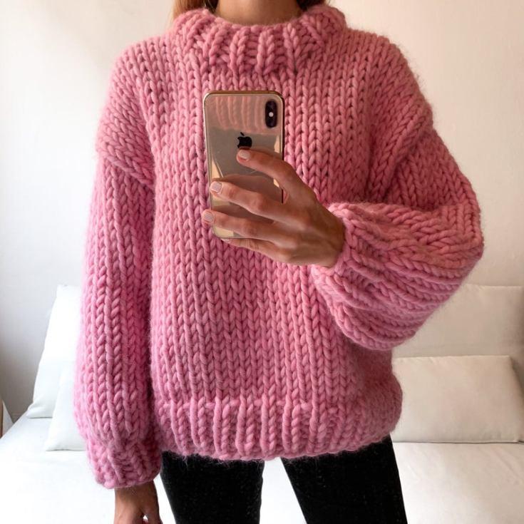 oversized chunky wool sweater