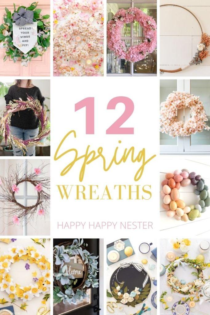 diy spring wreaths pin