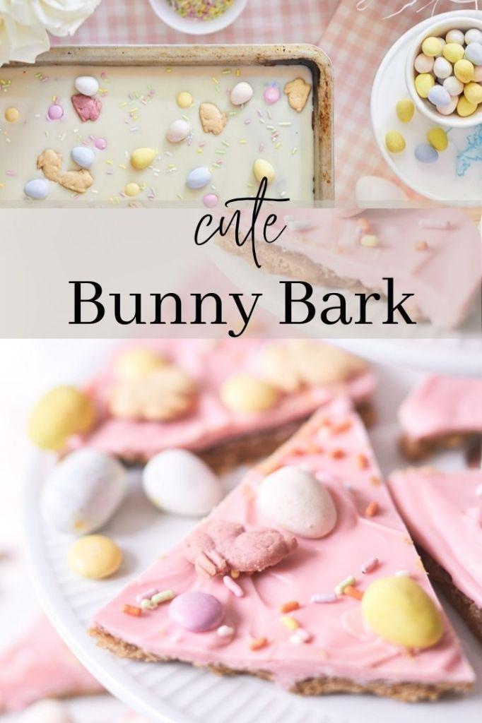 Easter chocolate bark recipe pin