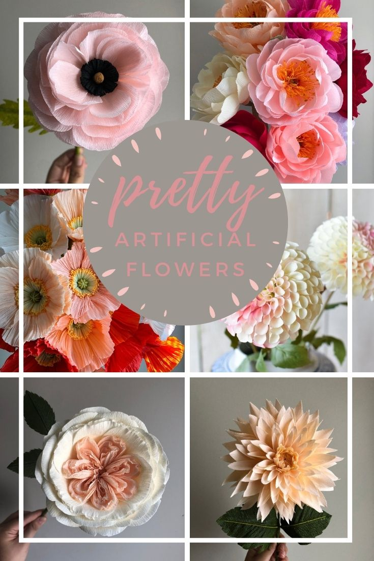 artificial flowers pin