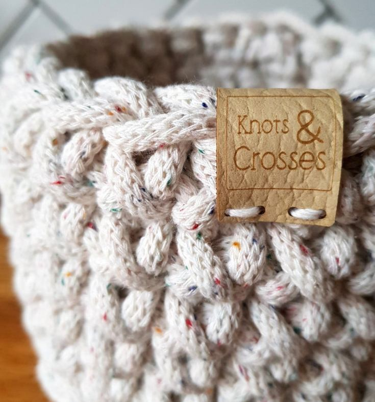 small handmade crochet basket