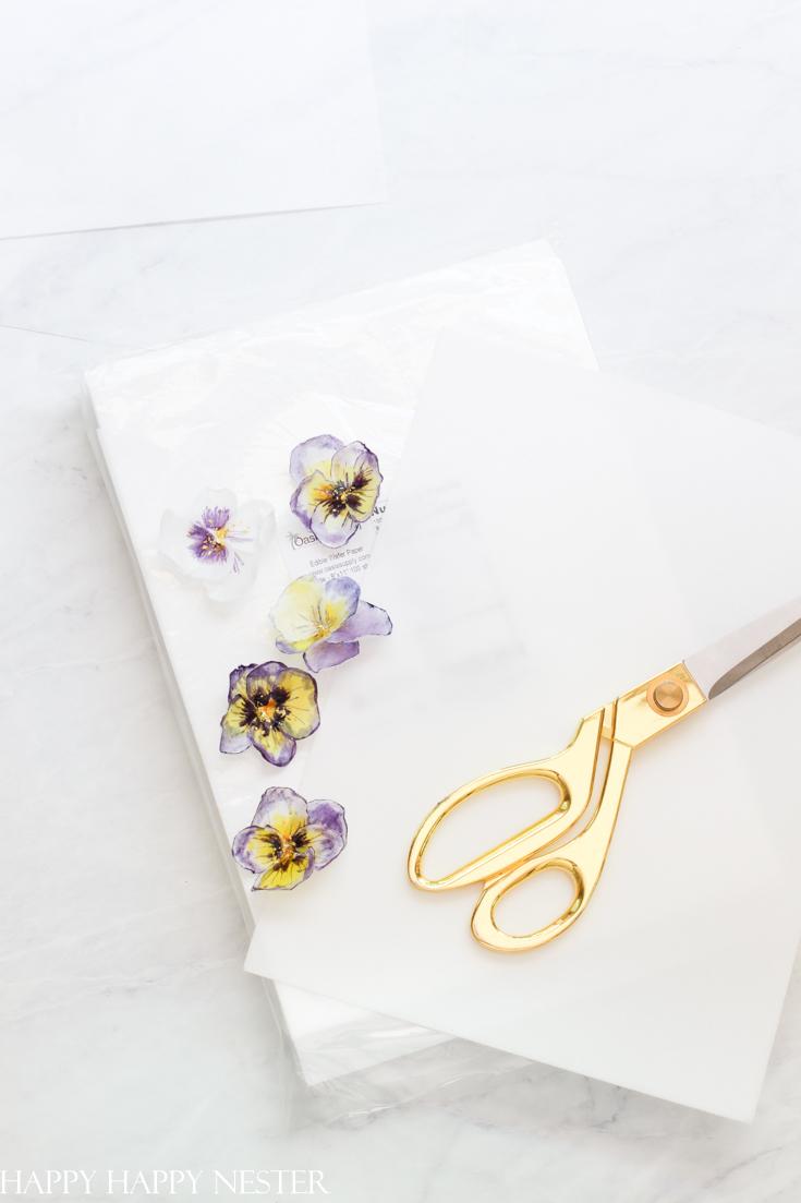 edible flowers tutorial