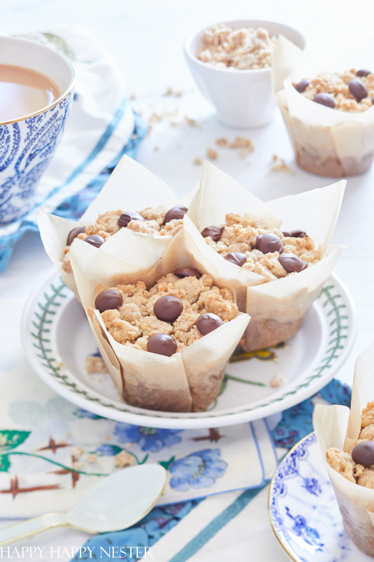 muffin snack with a cup of tea