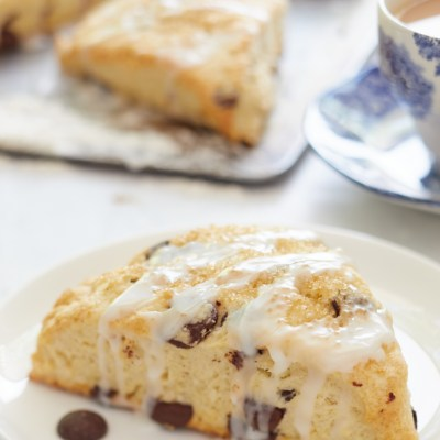 Chocolate Chip Scones (Creamy and Fluffy)