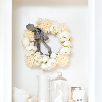 Easy Peony Wreath (10 Minutes to Make)