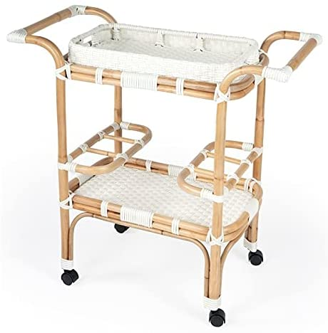 rattan bar carts