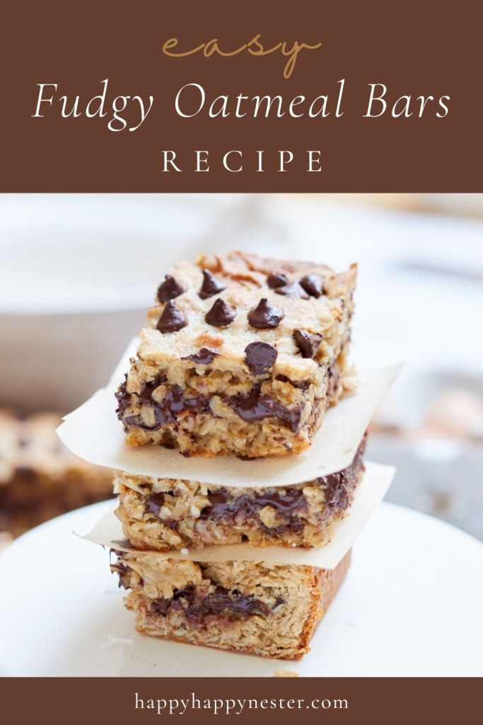 fudgy oatmeal bars recipe