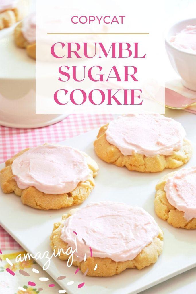 crumbl sugar cookie recipe pin