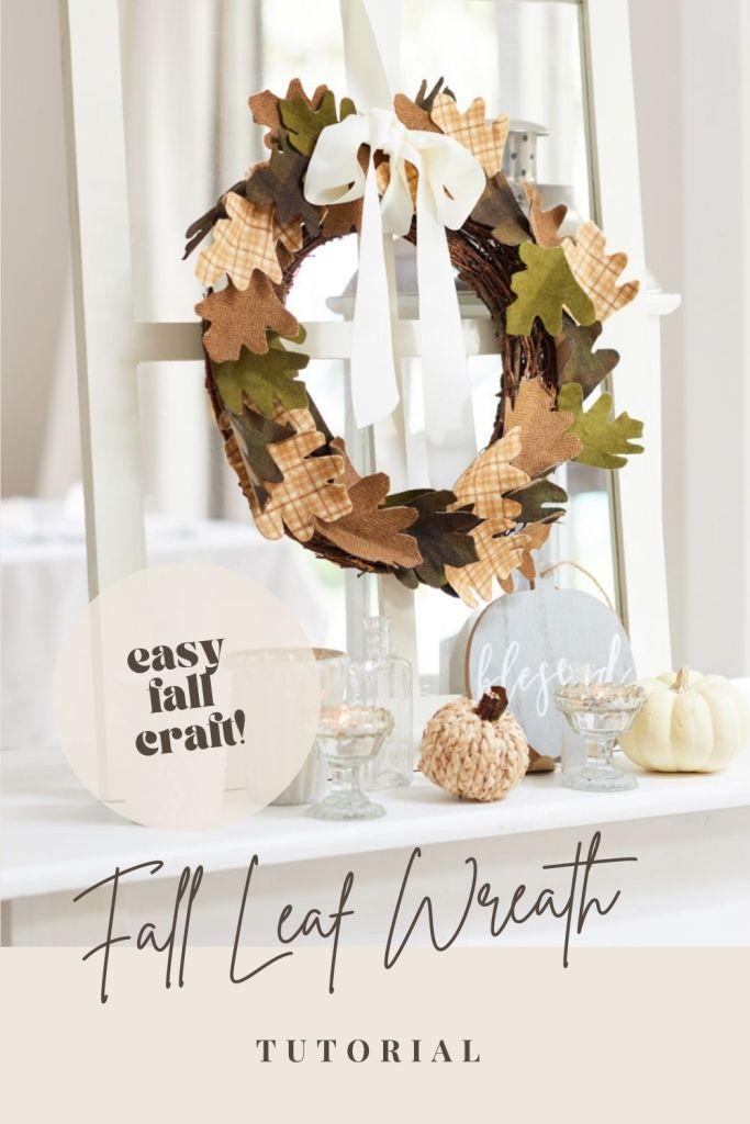 diy fall leaf wreath pin