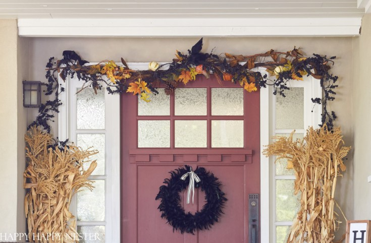 Fall garland for the front door