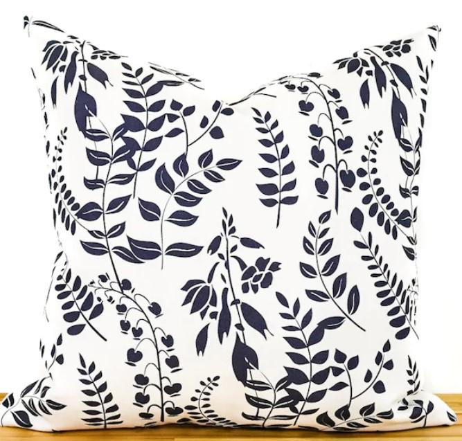 designer leaf pillow fall
