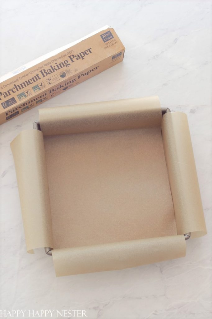 step by step parchment paper lining