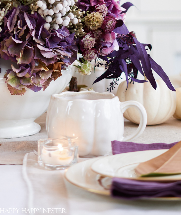 how to decorate a dining room table for thanksgiving